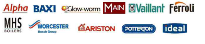Vailliant, Worcester, Potterton, Baxi, Alpha, Glow worm, Mhs boilers, Ariston, Ideal